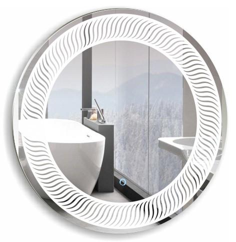 """Зеркало Серебряные зеркала """"Марс"""" D770 сенсор. выключатель"""