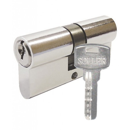 Цилиндр. механизм Soller F5 70мм, 5ключей, хром