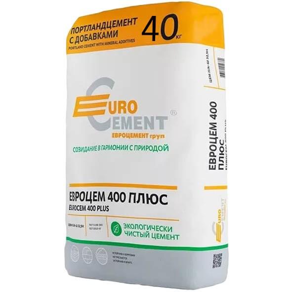 Цемент М-400 Евроцемент (Мордовия) 40кг